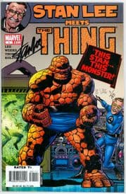 Stan Lee Meets The Thing Dynamic Forces Signed Stan Lee DF COA #1 Ltd 25 Marvel comic book