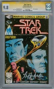 Star Trek #1 (1980) CGC 9.8 Signature Series Signed William Shatner Marvel comic book