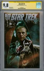 Star Trek #14 CGC 9.8 Signature Series Signed Simon Pegg Scotty Movie Actor IDW comic book