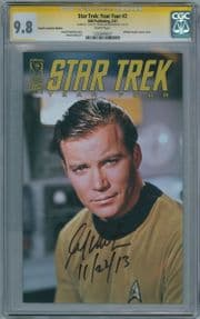 Star Trek Year Four #2 Photo Retailer Variant Cover CGC 9.8 Signature Series Signed William Shatner IDW comic book