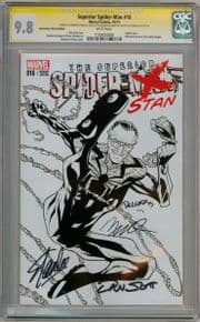 Superior Spider-man #16 Fan Expo Sketch Variant CGC 9.8 Signature Series Signed x4 Stan Lee Marvel