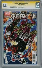 Superior Spider-man #27 Brooks Retail Variant CGC 9.8 Signature Series Signed Stan Lee & Dan Slott