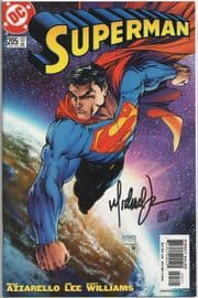 Superman #205 Michael Turner Cover Dynamic Forces Signed Michael Turner DF COA DC comic book