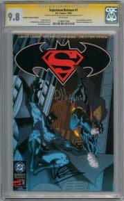 Superman Batman #1 RRP Variant CGC 9.8 Signature Series Signed McGuinness & Vines DC comic book