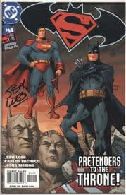 Superman Batman #14 Dynamic Forces Signed Jeph Loeb DF COA #7 DC Comics