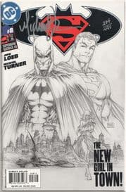 Superman Batman #8 Sketch Variant Dynamic Forces Signed Michael Turner DF COA Ltd 499 DC comic book