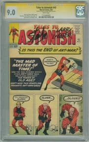 Tales To Astonish #43 CGC 9.0 WP Signature Series Signed Stan Lee & Larry Lieber Ant-Man Marvel