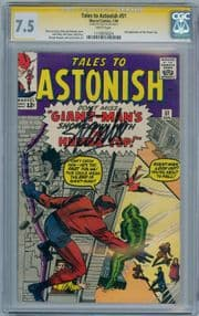 Tales To Astonish #51 CGC 7.5 Signature Series Signed Stan Lee 2nd App Human Top Marvel