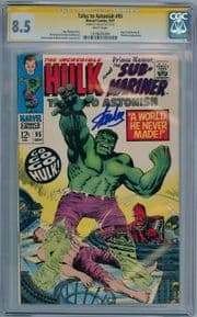 Tales To Astonish #95 CGC 8.5 Signature Series Signed Stan Lee Silver Age Marvel comic book