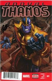Thanos Annual #1 Dynamic Forces Signed Jim Starlin DF COA Avengers Endgame Marvel comic book