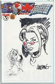 The Cow Spring 2000 Jay Company Originals Dual Sketch Edition B Witchblade Tomb Raider COA