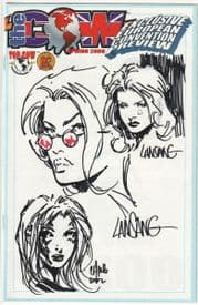 The Cow Spring 2000 Jay Company Triple Sketch Edition A Witchblade Tomb Raider Aphrodite IX COA