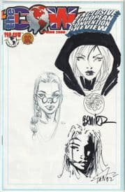 The Cow Spring 2000 Jay Company Triple Sketch Edition E Witchblade Tomb Raider Magdalena COA