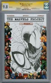 The Marvels Project #1 Blank CGC 9.8 Signature Series Signed Biggs Spider-man Venom Sketch comic