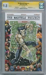 The Marvels Project #1 Blank  CGC 9.8 Signature Series Signed Daxiong Wolverine Sketch comic