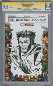 The Marvels Project #1 Blank  CGC 9.8 Signature Series Signed Marcus To Wolverine Sketch comic