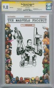 The Marvels Project #1 Blank  CGC 9.8 Signature Series Signed Punisher Sketch comic book