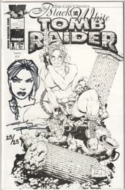 Tomb Raider #1 Black & White Variant Signed Remarked Andy Park Jay Company COA Ltd 25 Top Cow Comics