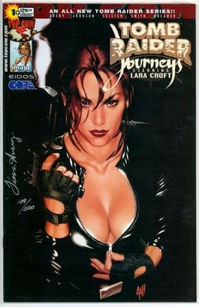 Tomb Raider Journeys #1 Adam Hughes Variant Dynamic Forces DF Signed Avery Movie