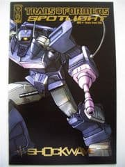 Transformers Spotlight #1 RRP Gold Foil Retailer Summit 2006 IDW comic book