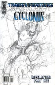 Transformers Spotlight Cyclonus Retail Incentive RI Sketch Variant Cover IDW Publishing comic book