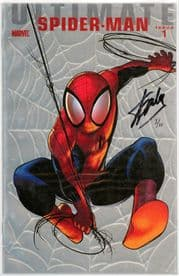 Ultimate Comics Spider-man #1 Foil Variant Dynamic Forces Signed Stan Lee DF COA Ltd 10 Marvel book