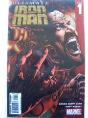 Ultimate Iron Man #1 Chrome Variant Dynamic Forces Signed Andy Kubert DF COA Marvel comic book