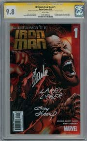 Ultimate Iron Man #1 Hitch Cover CGC 9.8 Signature Series Signed x3 Stan Lee Larry Lieber Marvel comic book