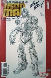 Ultimate Iron Man #1 Sketch Cover Dynamic Forces Signed Andy Kubert COA DF Ltd 204