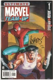 Ultimate Marvel Team-Up #1 DF Signed Bendis COA Ltd 1500