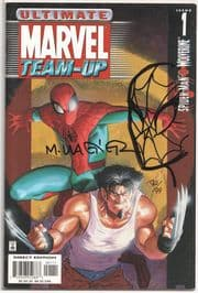 Ultimate Marvel Team-Up #1 Dynamic Forces Signed Remarked Wagner Spider-man  Sketch