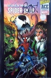 Ultimate Spider-man #1 Wizard Ace Edition Signed Brian Bendis & Mark Bagley COA Venom Marvel
