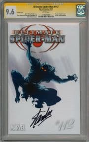 Ultimate Spider-man  #112 Retail Variant CGC 9.6 Signature Series Signed Stan Lee  Marvel comic
