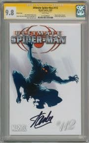 Ultimate Spider-man  #112 Retail Variant CGC 9.8 Signature Series Signed Stan Lee  Marvel comic
