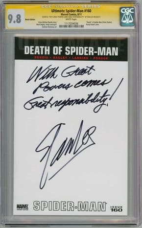 Ultimate Spider-man #160 Blank CGC 9.8 Signature Series Signed Stan Lee With Great Power Marvel