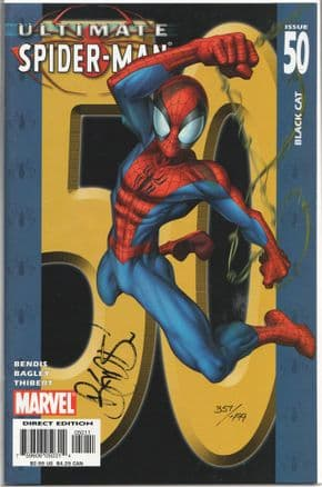 Ultimate Spider-man #50 Dynamic Forces Signed Brian Bendis DF COA Ltd 499 Marvel comic book