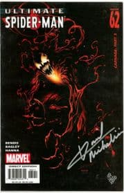Ultimate Spider-man #62 Dynamic Forces Signed David Michelinie DF COA Carnage Marvel comic book
