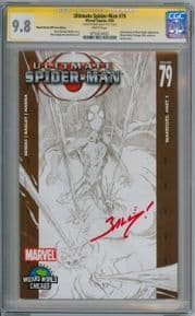 Ultimate Spider-man #79 Wizard World Variant CGC 9.8 Signature Series Signed Mark Bagley Marvel