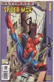 Ultimate Spider-man #8 Dynamic Forces Signed Mark Bagley Remarked Art Thibert Sketch DF COA Marvel