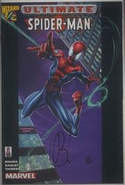 Ultimate Spider-man Wizard #1/2 Dynamic Forces Signed Brian Michael Bendis DF COA Marvel