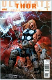Ultimate Thor #1 Dynamic Forces Signed Jonathan Hickman DF COA Ltd 115 Marvel comic book