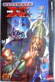 Ultimate X-Men #1 Dynamic Forces Variant Signed Re-marked Millar Kubert DF COA Marvel comic book