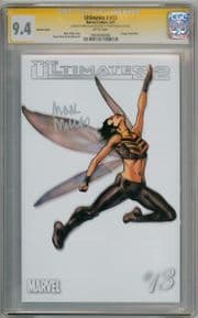 Ultimates 2 #13 Wasp White Variant 1:100 CGC 9.4 Signature Series Signed Mark Millar Marvel comic
