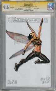Ultimates 2 #13 Wasp White Variant 1:100 CGC 9.6 Signature Series Signed Mark Millar Marvel comic