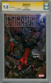 Ultimatum #4 Jimenez Variant CGC 9.8 Signature Series signed David Finch Marvel