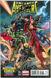 Uncanny Avengers #1 Midtown NYC Variant Signed Stan Lee & J. Scott Campbell Marvel comic book