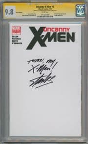 Uncanny X-Men #1 Blank Sketch Variant CGC 9.8 Signature Series Signed Stan Lee To Me My X-Men Marvel