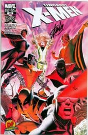 Uncanny X-Men #500 Dynamic Forces Alex Ross Variant Signed Stan Lee DF Ltd 25 COA Marvel comic book