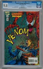 Venom Carnage Unleashed #1 1995 CGC 9.8 Dr Kafka App Marvel comic book