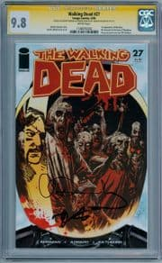 Walking Dead #27 CGC 9.8 Signature Series Signed Robert Kirkman & Charlie Adlard Sketch 1st Governor